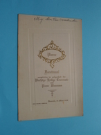Plechtige COMMUNIE Menu Pierre WAUMANS Baesrode 25 Maart 1928 ( Voir / Zie Foto's Voor Detail ) Lea Van Overstraeten ! - Menus