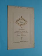 Plechtige COMMUNIE Menu Pierre WAUMANS Baesrode 25 Maart 1928 ( Voir / Zie Foto's Voor Detail ) L. Waumans ! - Menus