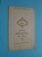 Plechtige COMMUNIE Menu Pierre WAUMANS Baesrode 25 Maart 1928 ( Voir / Zie Foto's Voor Detail ) Pierre Waumans ! - Menus