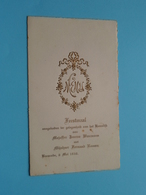 HUWELIJK Van Jeanne WAUMANS & Fernand ROOMS Baesrode 6 Mei 1930 ( Voir / Zie Foto's Voor Detail ) Léopold Waumans ! - Menus