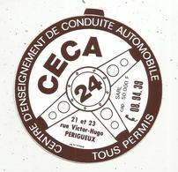 Autocollant , CECA , Centre D'enseignement De Conduite Automobile ,  PERIGUEUX - Autocollants