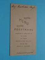 HUWELIJK Van Madeleine BELON & Marcel DAMAN > 22 Aug 1939 Dendermonde ( Voir / Zie Foto's Voor Detail ) Mathilde VEYT ! - Menus