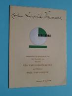 HUWELIJK Van Lea Van OVERSTRAETEN & Paul Van GAEVER > 20 Juni 1939 Brussel ( Voir / Zie Foto's Voor Detail ) Waumans ! - Menus
