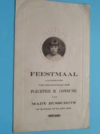 Plechtige COMMUNIE Van MADY BUSSCHOTS Op 13 Maart 1932 ( Voir / Zie Foto's Voor Detail ) ! - Menus