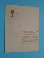 Plechtige COMMUNIE Van Jos DE LEEUW Op 1 Juni 1933 Te BORNHEM ( Voir / Zie Foto's Voor Detail ) Waumans ! - Menus