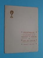 Plechtige COMMUNIE Van Jos DE LEEUW Op 1 Juni 1933 Te BORNHEM ( Voir / Zie Foto's Voor Detail ) Waumans ! - Menükarten
