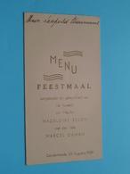 Huwelijk > Madeleine BELON & Marcel DAMAN Dendermonde 22 Aug 1939 ( Voir / Zie Foto's Voor Detail ) Waumans ! - Menus