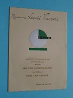 Huwelijk > Léa Van OVERSTRAETEN & Paul Van GAEVER Brussel 20 Juni 1939 ( Voir / Zie Foto's Voor Detail ) Waumans ! - Menus