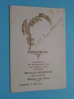 Huwelijk > Mathilde GOOSSENS & Marcel DE MAN Baasrode 31 Mei 1947 ( Voir / Zie Foto's Voor Detail ) Waumans ! - Menus