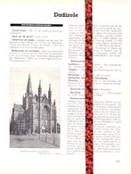 Gemeente Dadizele  - Org. Knipsel Uit Magazine 1958 - Geschiedenis - Folklore - Nijverheid - Handel + Grondplan - Non Classificati