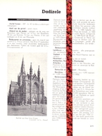 Gemeente Dadizele  - Org. Knipsel Uit Magazine 1958 - Geschiedenis - Folklore - Nijverheid - Handel + Grondplan - Vieux Papiers