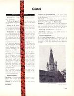 Gemeente Gistel - Org. Knipsel Uit Magazine 1958 - Geschiedenis - Folklore - Nijverheid - Handel - Vieux Papiers