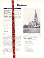 Gemeente Handzame - Org. Knipsel Uit Magazine 1958 - Geschiedenis - Folklore - Nijverheid - Handel + Landkaart - Vieux Papiers