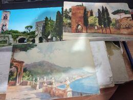 3 CARD  RAVELLO  VEDUTA  E 2 ILLUSTRATE G FRATTINI VB1966 N1950 HE153 - Salerno