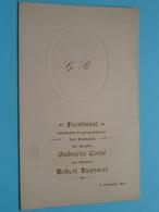 HUWELIJK Van Gabrielle CORDé & Robert HEYVAERT Op 11 August 1931 ( Voir / Zie Foto's Voor Detail ) Waumans ! - Menus