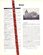 Gemeente Heule - Org. Knipsel Uit Magazine 1958 - Geschiedenis - Folklore - Nijverheid - Handel + Landkaart - Vieux Papiers