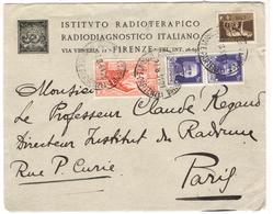 20950 - De FIRENZE Pour La France - 1900-44 Vittorio Emanuele III