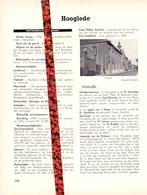Gemeente Hooglede - Org. Knipsel Uit Magazine 1958 - Geschiedenis - Folklore - Nijverheid - Handel + Landkaart - Vieux Papiers