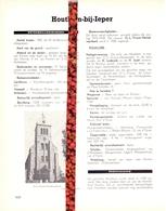Gemeente Houtem Houthem Ieper - Org. Knipsel Uit Magazine 1958 - Geschiedenis - Folklore - Nijverheid Handel + Landkaart - Vieux Papiers