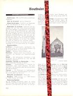 Gemeente Houthulst - Org. Knipsel Uit Magazine 1958 - Geschiedenis - Folklore - Nijverheid - Handel + Landkaart - Vieux Papiers