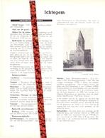 Gemeente Ichtegem - Org. Knipsel Uit Magazine 1958 - Geschiedenis - Folklore - Nijverheid - Handel + Landkaart - Vieux Papiers