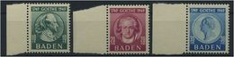 FZ BADEN 1949, Nr. 47-49 Postfrisch (96495) - Französische Zone