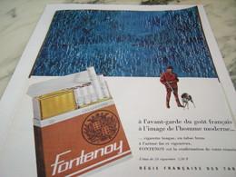 ANCIENNE PUBLICITE CIGARETTE FONTENOY TABAC BRUN 1963 - Tabac (objets Liés)