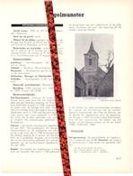Gemeente Ingelmunster - Org. Knipsel Uit Magazine 1958 - Geschiedenis - Folklore - Nijverheid - Handel - Vieux Papiers