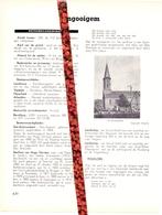 Gemeente Ingooigem - Org. Knipsel Uit Magazine 1958 - Geschiedenis - Folklore - Nijverheid - Handel + Landkaart - Vieux Papiers