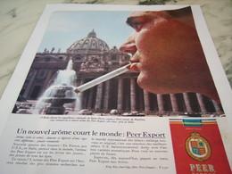 ANCIENNE PUBLICITE  ROME ET NOUVEL AROME CIGARETTE PEER EXPORT 1963 - Tabac (objets Liés)