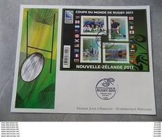 Premier Jour (FDC) Grand Format France 2011 : Coupe Du Monde De Rugby 2011 (Bloc Feuillet) - FDC