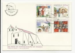 Cover FDC Angola 500 Anos De Evangelização Luanda 1992 - Angola
