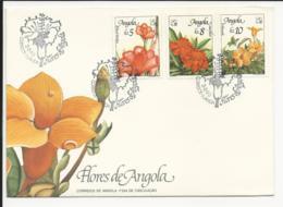 Cover FDC Angola Flores De Angola Luanda 1990 - Angola