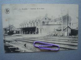 AUVELAIS : Intérieur De La Gare En 1917 - België