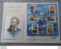 Premier Jour (FDC) Grand Format France 2005 : Jules Verne, Les Voyages Extraordinaires (bloc Feuillet) - FDC