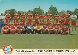 Rare Cpsm Le FC Bayern München 1975-1976 - Voetbal