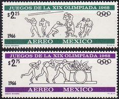 MEXICO [1966] MiNr 1217,18 ( **/mnh ) Olympiade - Mexiko
