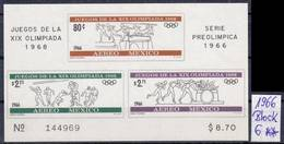 MEXICO [1966] Block 6 ( **/mnh ) Olympiade - Mexiko