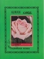 Ajman 1972 Mi. Bf. 456B Flowers Fiori Rosa Tender Roses Sheet Imperf. Nuovo CTO Rose - Ajman