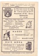 Pub Reclame - Ciné Cinema Bioscoop - De Lumen - Oudenaarde - Foto Photo Star Vedette Olivia De Havilland - Bioscoopreclame