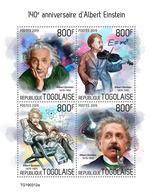 Togo. 2019 140th Anniversary Of Albert Einstein. (0312a)  OFFICIAL ISSUE - Albert Einstein