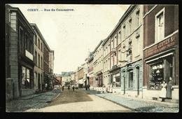 Ciney, ( Namur ) Rue Du Commerce. Carte Colorisée Marcovici. **** - Ciney