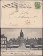 """BELGIQUE  COB 56 SUR CP """"INCONNU A L'APPEL DE BRUGES""""  (DD) DC-3849 - 1893-1900 Thin Beard"""