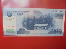 COREE(NORD) 2000 WON 2008 PEU CIRCULER/NEUF - Corée Du Nord