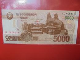 COREE(NORD) 5000 WON 2013 PEU CIRCULER/NEUF - Corée Du Nord