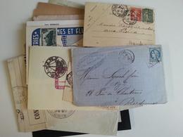 FRANCE Un Lot De 15 Lettres Anciennes Et  Semi Mod - Sellos