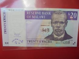 MALAWI 20 KWACHA 2007 PEU CIRCULER/NEUF - Malawi