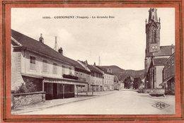 CPA - CORNIMONT (88) - Aspect Du Café De La Place Et De La Grande-rue Dans Les Années 20 / 30 - Cornimont