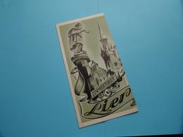 LIER > Folder Nederlands ( Ontwerp : S. De Bie / Druk VTK Antwerp / Uitg. V.V.V. ) Anno 1950 ( Voir Photo ) ! - Dépliants Touristiques