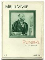 VAN DONGEN Peindre 1937 - Books, Magazines, Comics